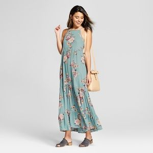 Xhilaration Blue Floral Maxi Dress NEW!